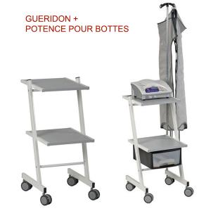 Guéridon + Potence pour bottes - kiné diffusion